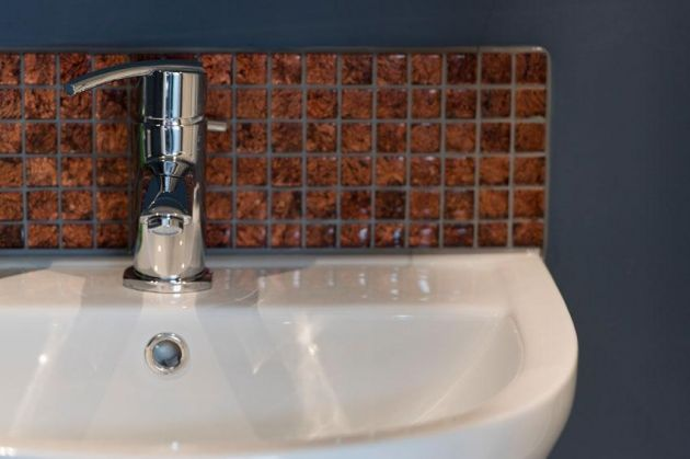 Glass Copper Mosaic tiles