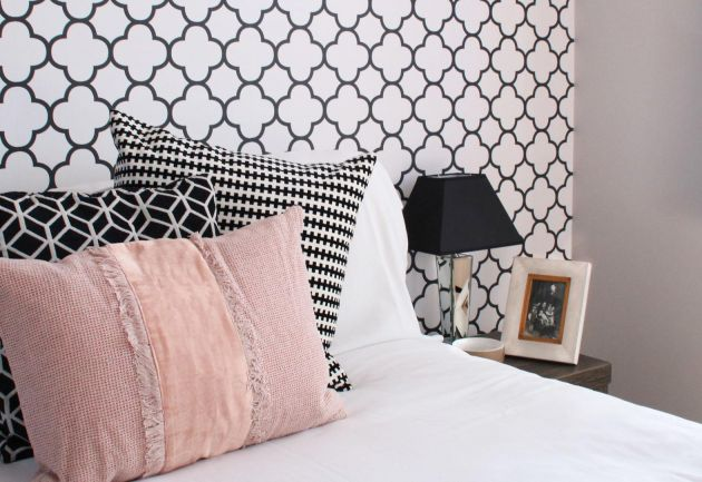 Designer Bedroom Geometric Wallpaper