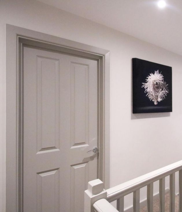 Contemporary hallway design F&B paint