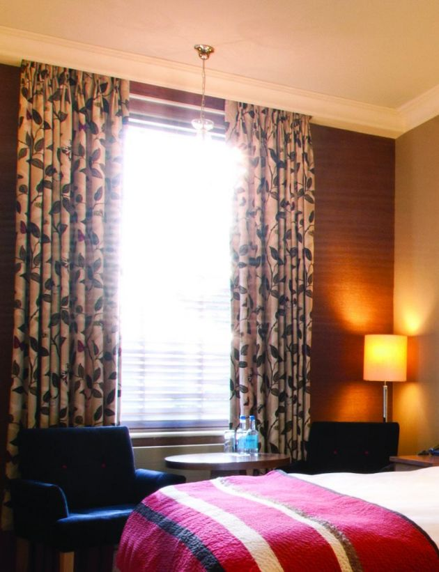Hotel bedroom curtains