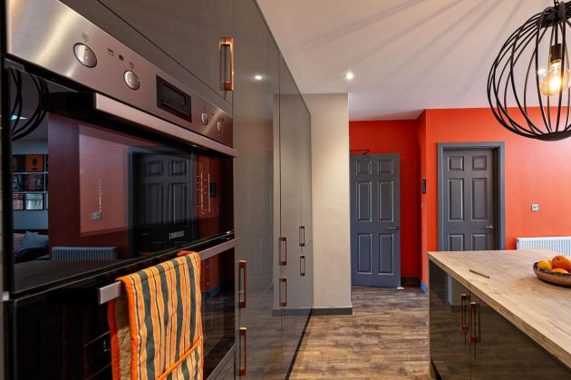 Kitchen graphite Charlotte's Lock Orange Farrow & Ball Oxfordshire Berkshire Bucks
