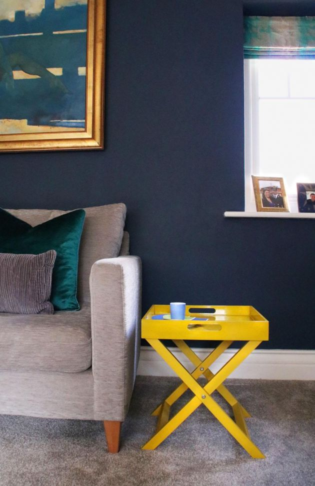 Dark Blue Living Room