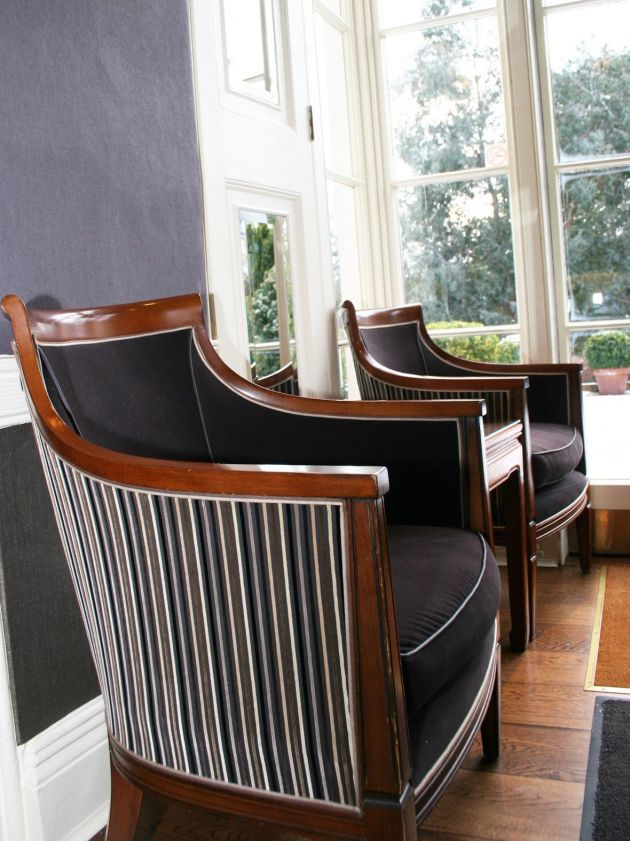 Commissioned armchairs in bar
